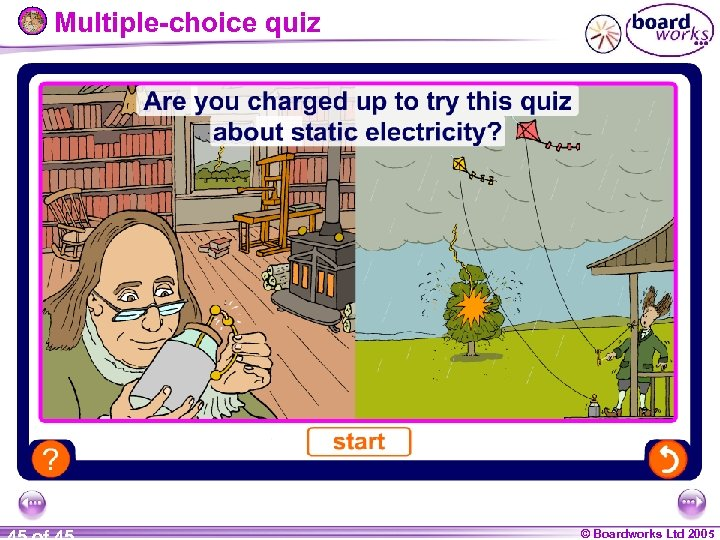 Multiple-choice quiz © Boardworks Ltd 2005