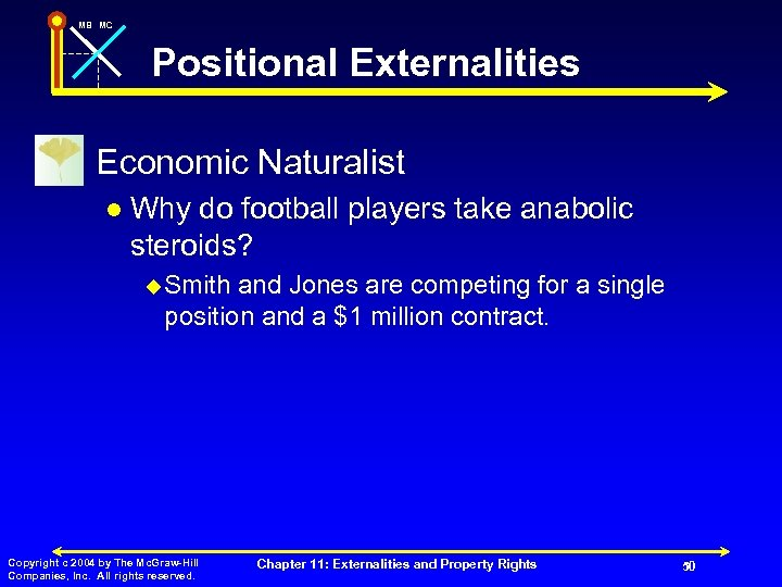 MB MC Positional Externalities n Economic Naturalist l Why do football players take anabolic