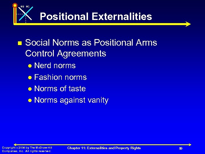 MB MC Positional Externalities n Social Norms as Positional Arms Control Agreements Nerd norms