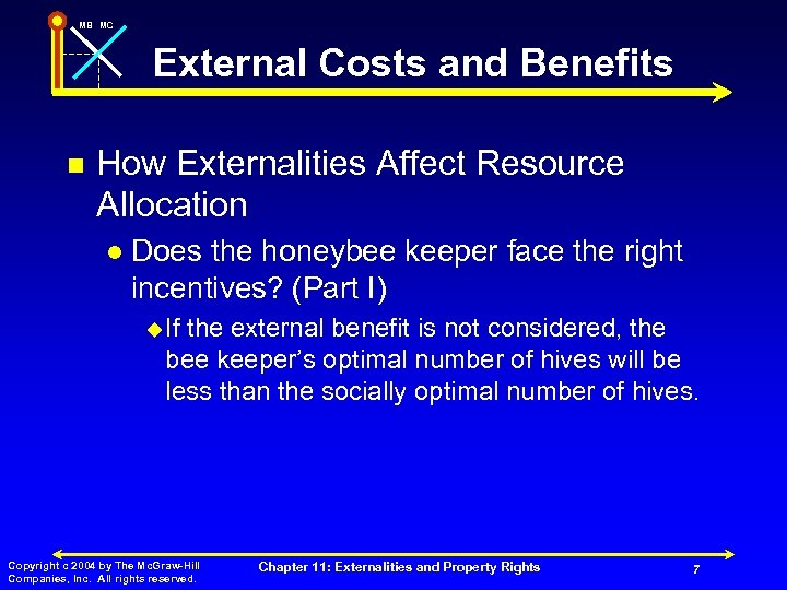 MB MC External Costs and Benefits n How Externalities Affect Resource Allocation l Does
