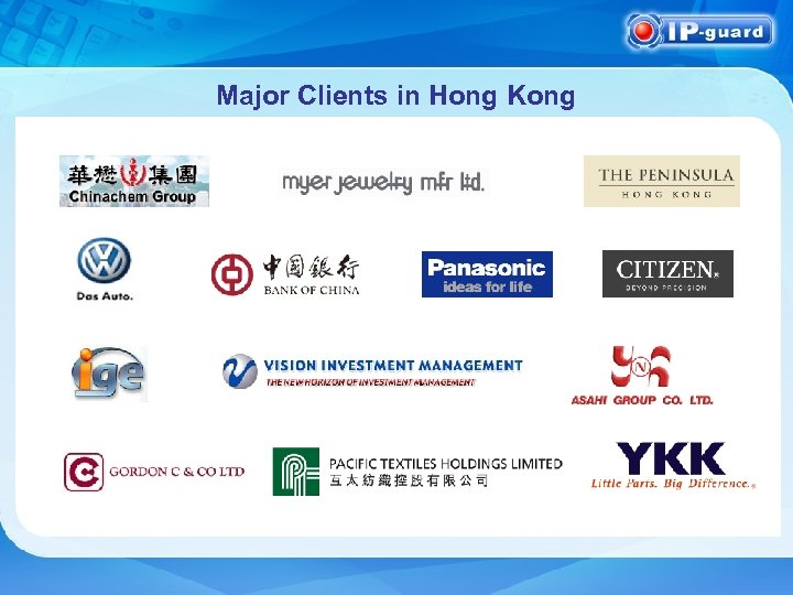 Major Clients in Hong Kong