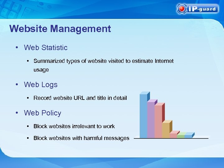Website Management • Web Statistic • Summarized types of website visited to estimate Internet