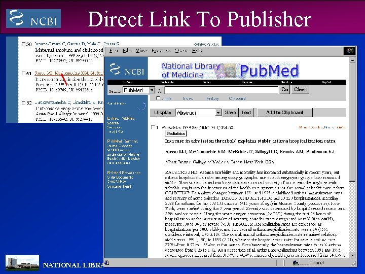 Direct Link To Publisher NATIONAL LIBRARY OF MEDICINE