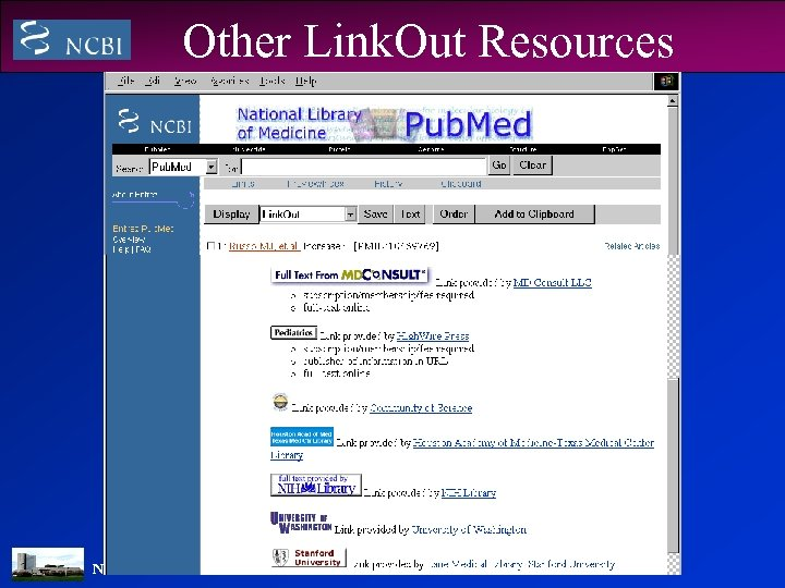 Other Link. Out Resources NATIONAL LIBRARY OF MEDICINE