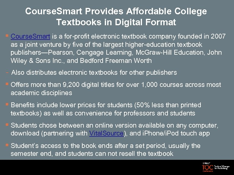 Course. Smart Provides Affordable College Textbooks in Digital Format § Course. Smart is a