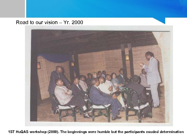 Road to our vision – Yr. 2000 1 ST Hu. QAS workshop (2000). The