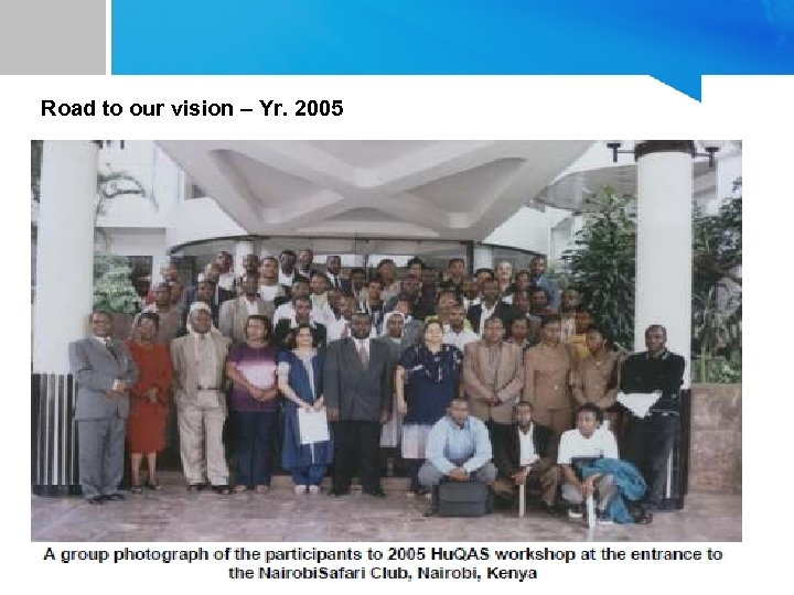 Road to our vision – Yr. 2005