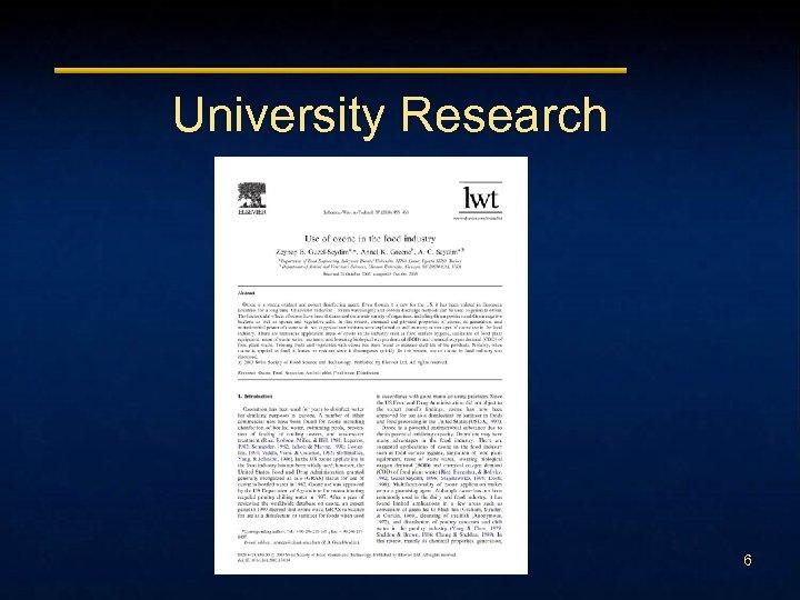University Research 6
