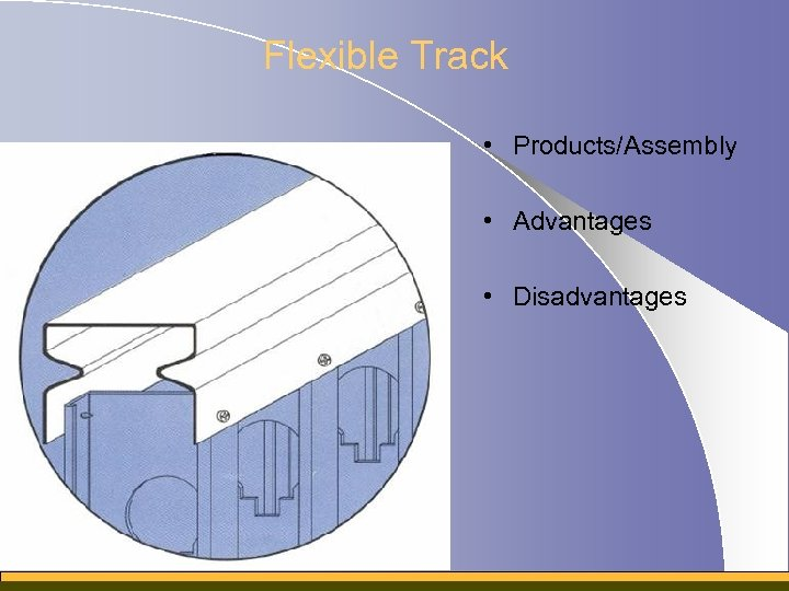 Flexible Track • Products/Assembly • Advantages • Disadvantages