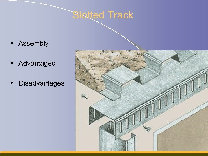 Slotted Track • Assembly • Advantages • Disadvantages