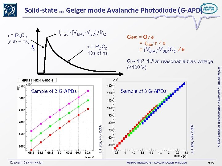 Solid-state … Geiger mode Avalanche Photodiode (G-APD) ID t = RQCD 10 s of