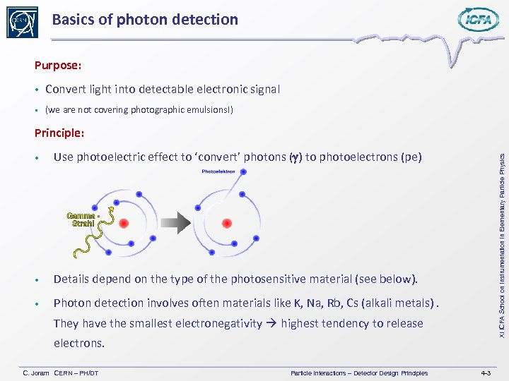 Basics of photon detection Purpose: Convert light into detectable electronic signal (we are not