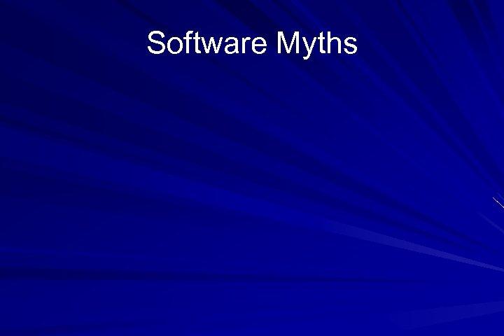 Software Myths