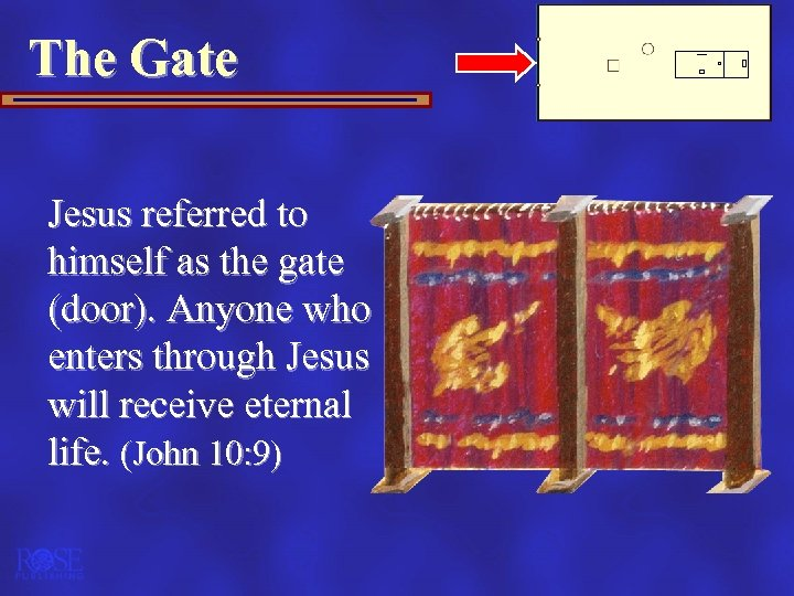 The Gate Jesus referred to himself as the gate (door). Anyone who enters through