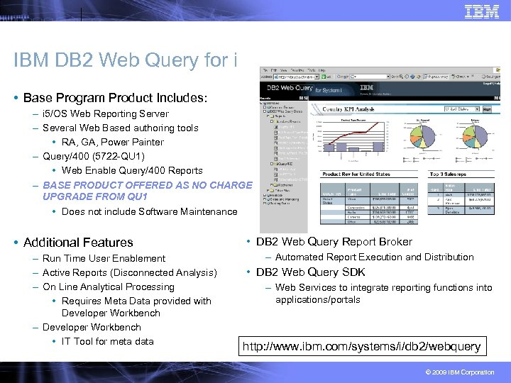 IBM DB 2 Web Query for i • Base Program Product Includes: – i