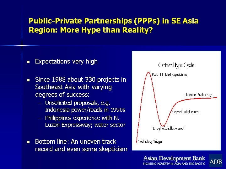 Public-Private Partnerships (PPPs) in SE Asia Region: More Hype than Reality? n Expectations very