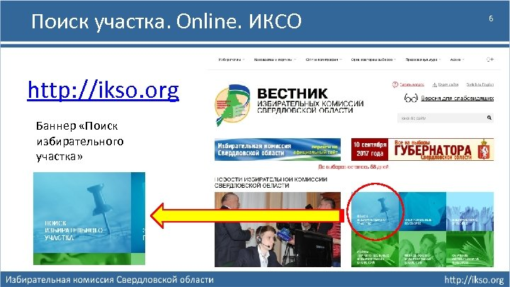 Поиск участка. Online. ИКСО http: //ikso. org Баннер «Поиск избирательного участка» 6