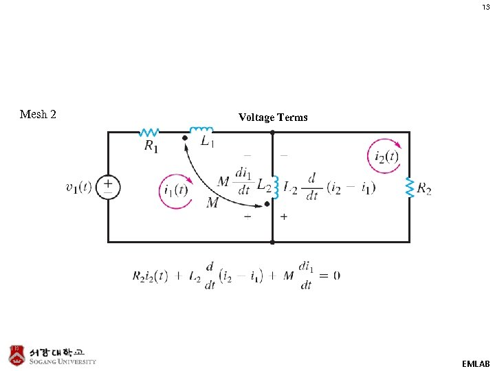 13 Mesh 2 Voltage Terms EMLAB