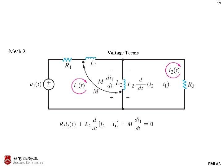 13 Mesh 2 Voltage Terms EMLAB