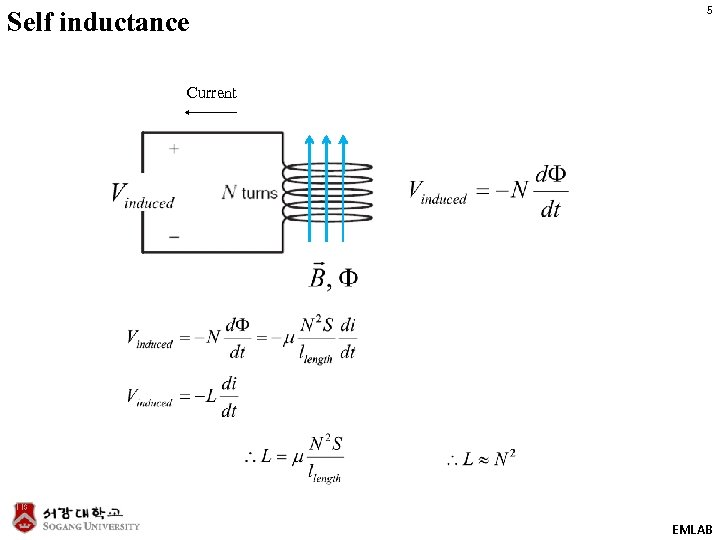 Self inductance 5 Current EMLAB