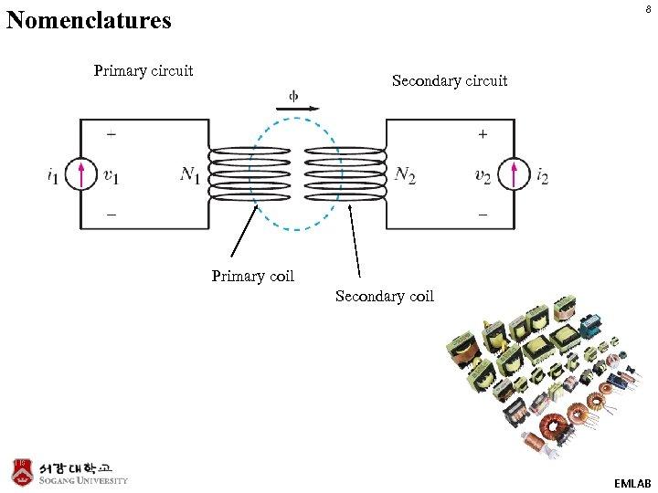 8 Nomenclatures Primary circuit Secondary circuit Primary coil Secondary coil EMLAB