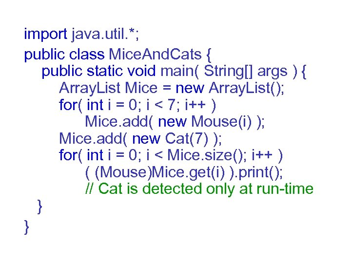 import java. util. *; public class Mice. And. Cats { public static void main(
