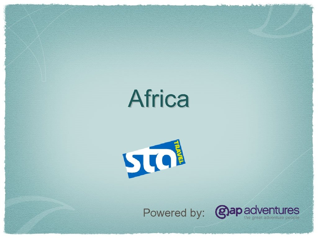 Africa Powered by: