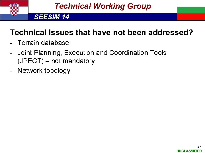 Technical Working Group SEESIM 14 Technical Issues that have not been addressed? - Terrain