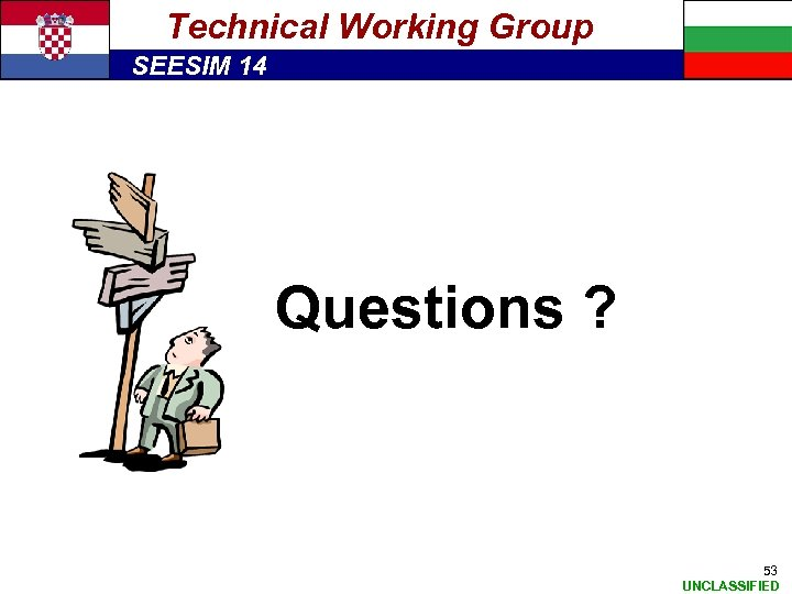 Technical Working Group SEESIM 14 Questions ? 53 UNCLASSIFIED