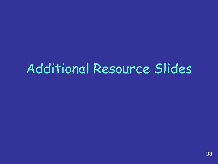 Additional Resource Slides 38