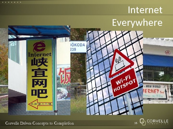 Internet Everywhere Corvelle Drives Concepts to Completion 16