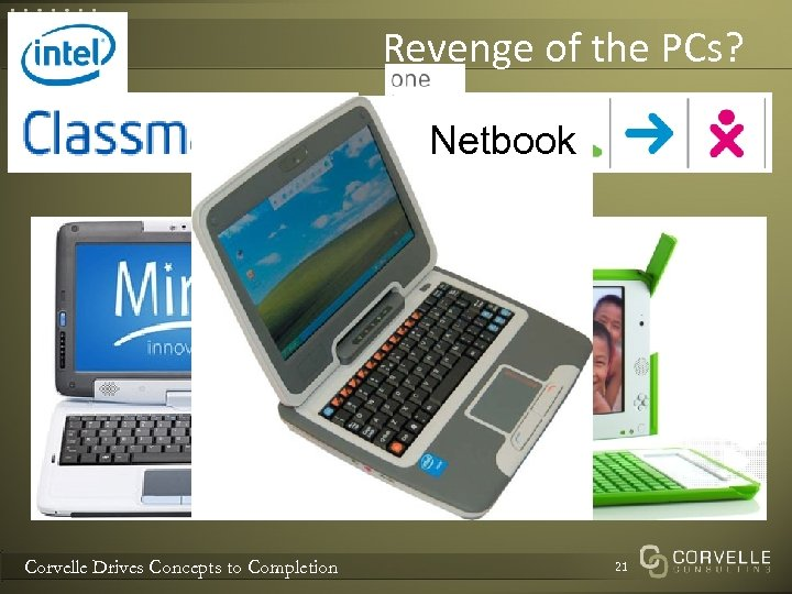 Revenge of the PCs? Netbook Corvelle Drives Concepts to Completion 21