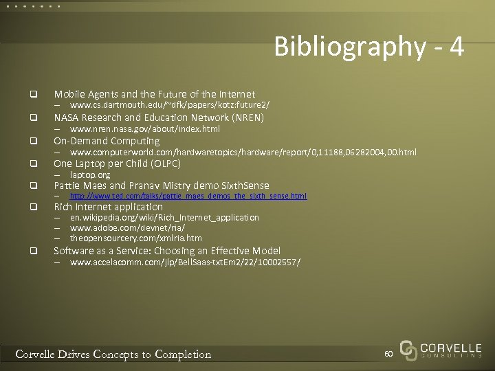 Bibliography - 4 q Mobile Agents and the Future of the Internet q NASA