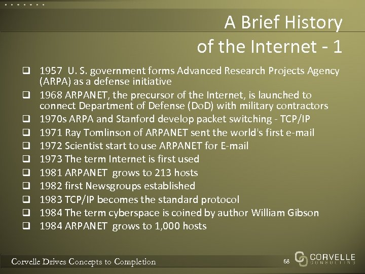 A Brief History of the Internet - 1 q 1957 U. S. government forms
