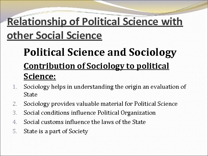 how is sociology related to other social sciences