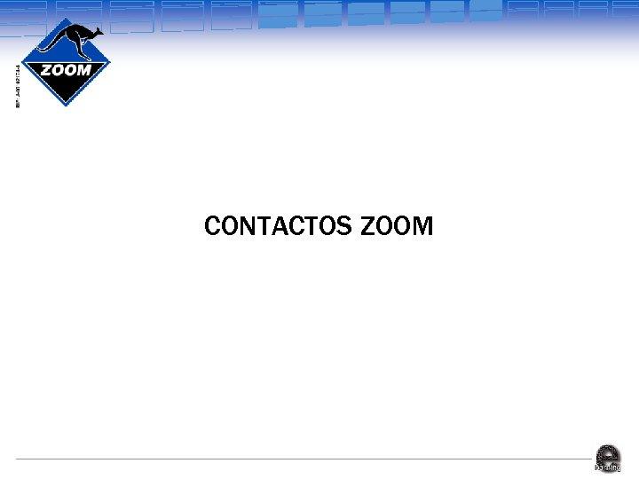 CONTACTOS ZOOM