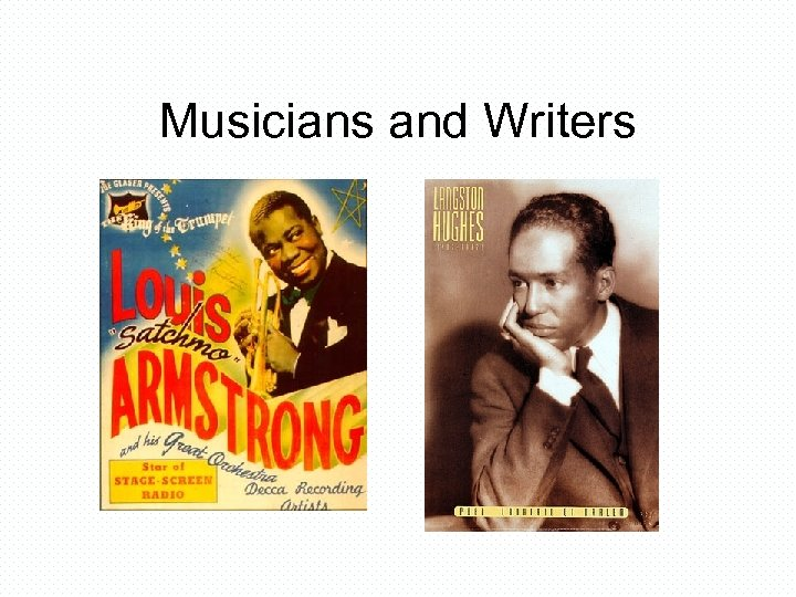 Musicians and Writers
