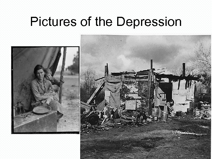 Pictures of the Depression