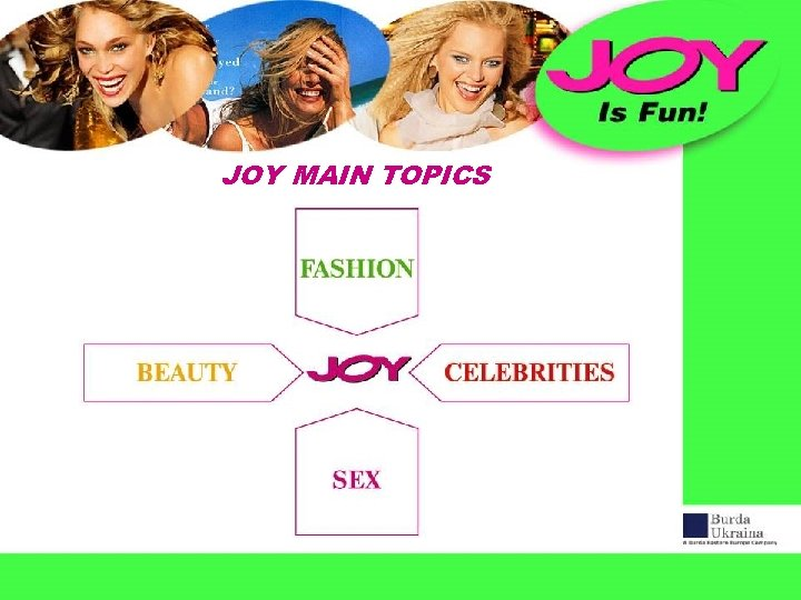 JOY MAIN TOPICS