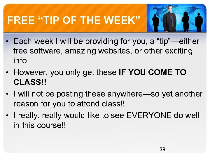"FREE ""TIP OF THE WEEK"" • Each week I will be providing for you,"