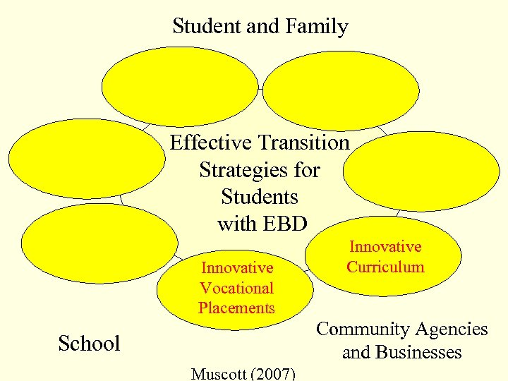 Student and Family Effective Transition Strategies for Students with EBD Innovative Vocational Placements Innovative