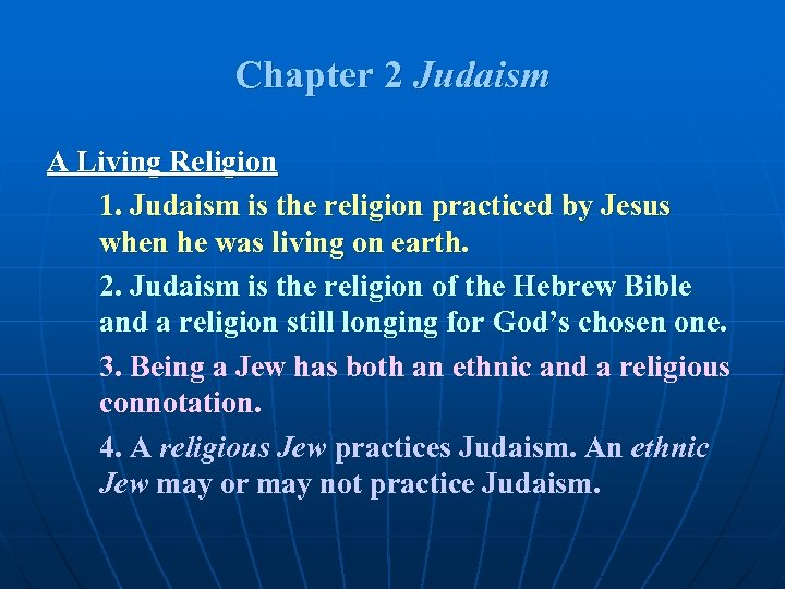an overview of the judaism as a group of similar religions Similarities -both very ancient religions -both are actually monotheistic in hinduism, every god is a personality of the one god narayana similarities of there society-related caste system -- in hinduism there is the priestly class, the warrior class, and others -- in judaism there currently is a.