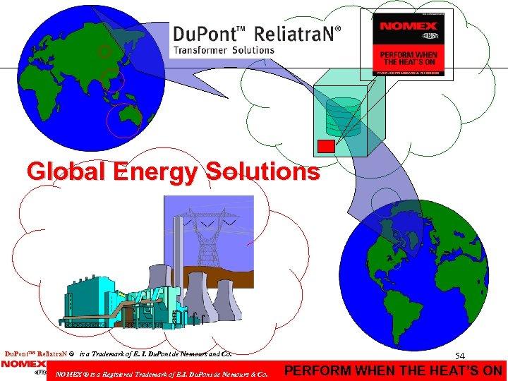 PAPER AND PRESSBOARD UL RECOGNIZED Global Energy Solutions Du. Pont. TM Reliatra. N ®