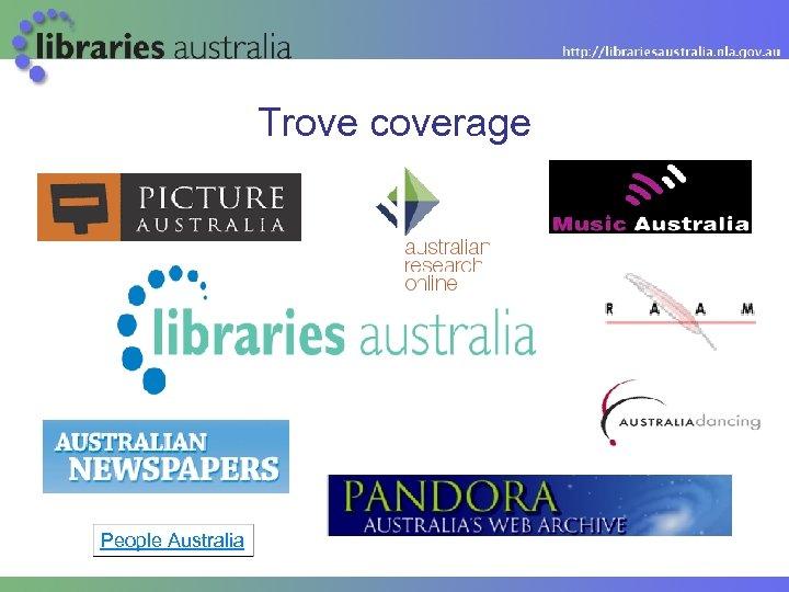 Trove coverage People Australia