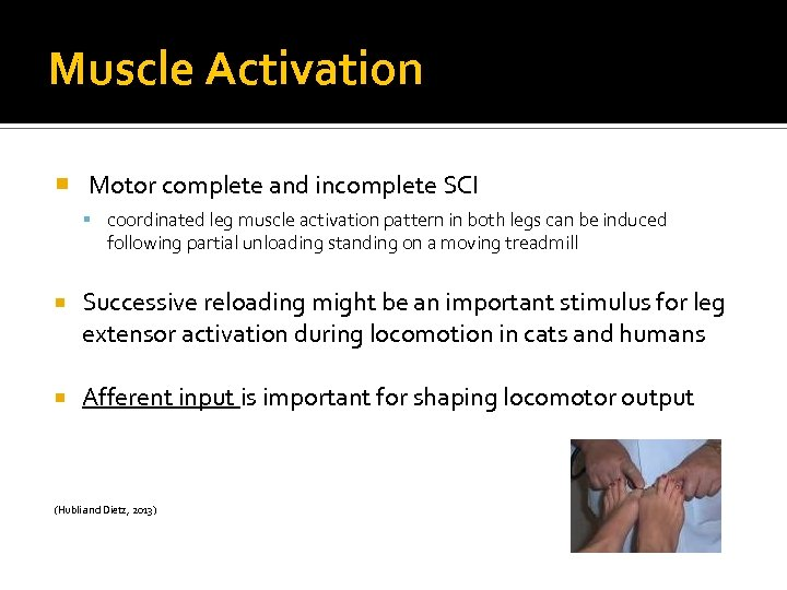 Muscle Activation Motor complete and incomplete SCI coordinated leg muscle activation pattern in both