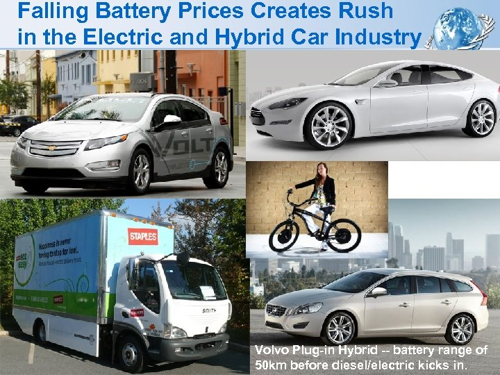 Falling Battery Prices Creates Rush in the Electric and Hybrid Car Industry Volvo Plug-in