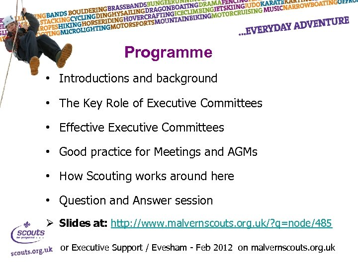 Programme • Introductions and background • The Key Role of Executive Committees • Effective