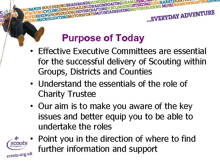 Purpose of Today • Effective Executive Committees are essential for the successful delivery of