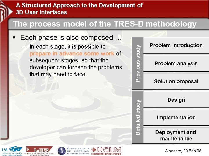 A Structured Approach to the Development of 3 D User Interfaces The process model