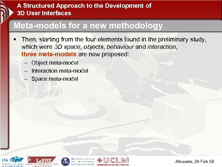 A Structured Approach to the Development of 3 D User Interfaces Meta-models for a